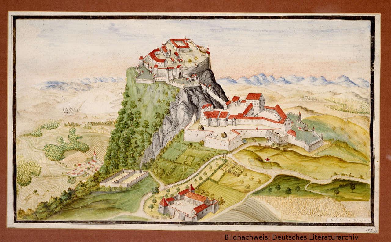 historischer Hohentwiel - Bildnachweis: Deutsches Literaturarchiv